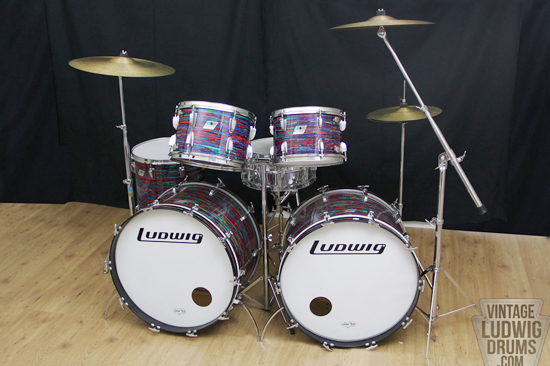 19070s Ludwig Psych Red Rock Duo